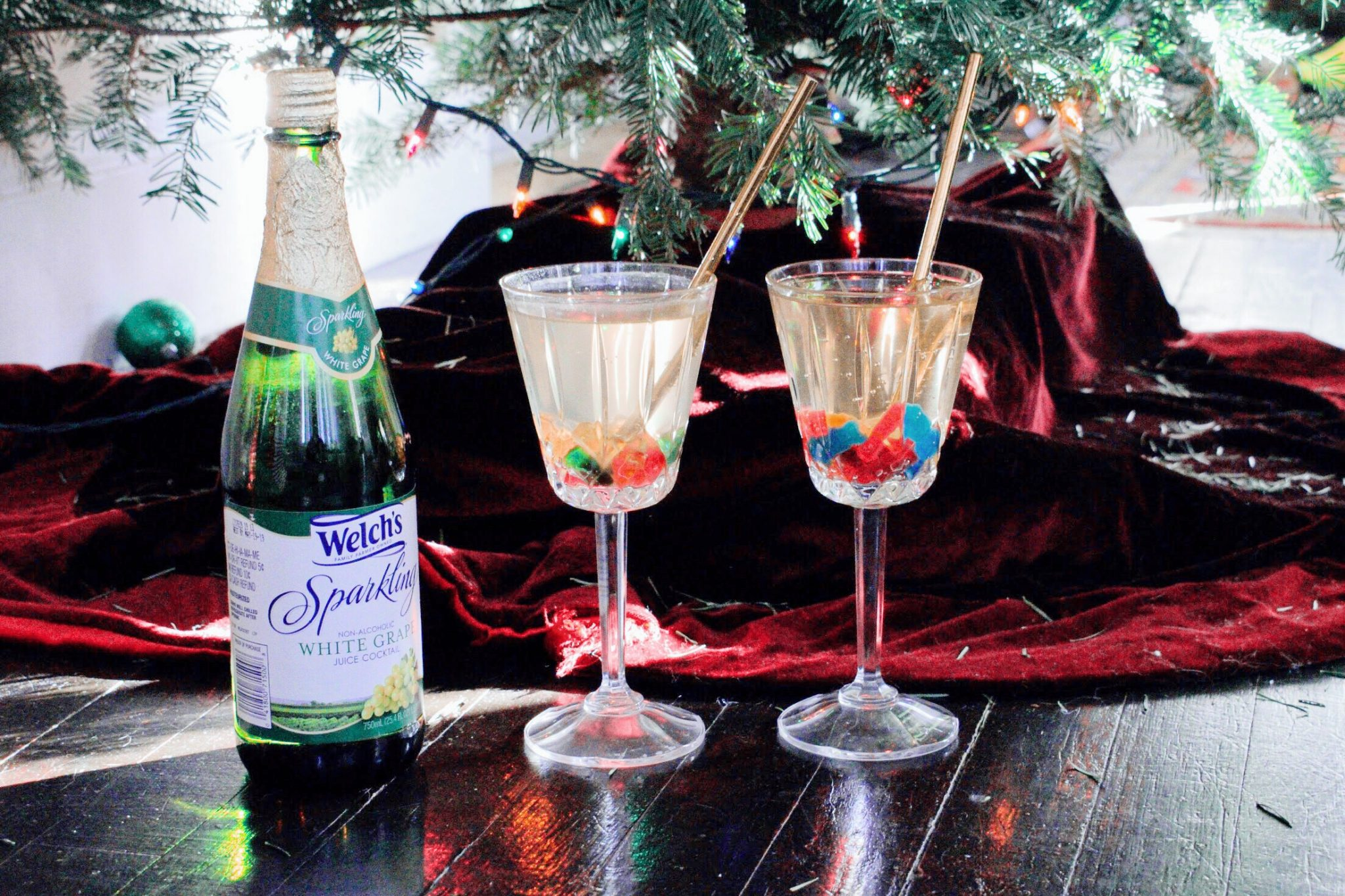 NYE Mocktail by the tree